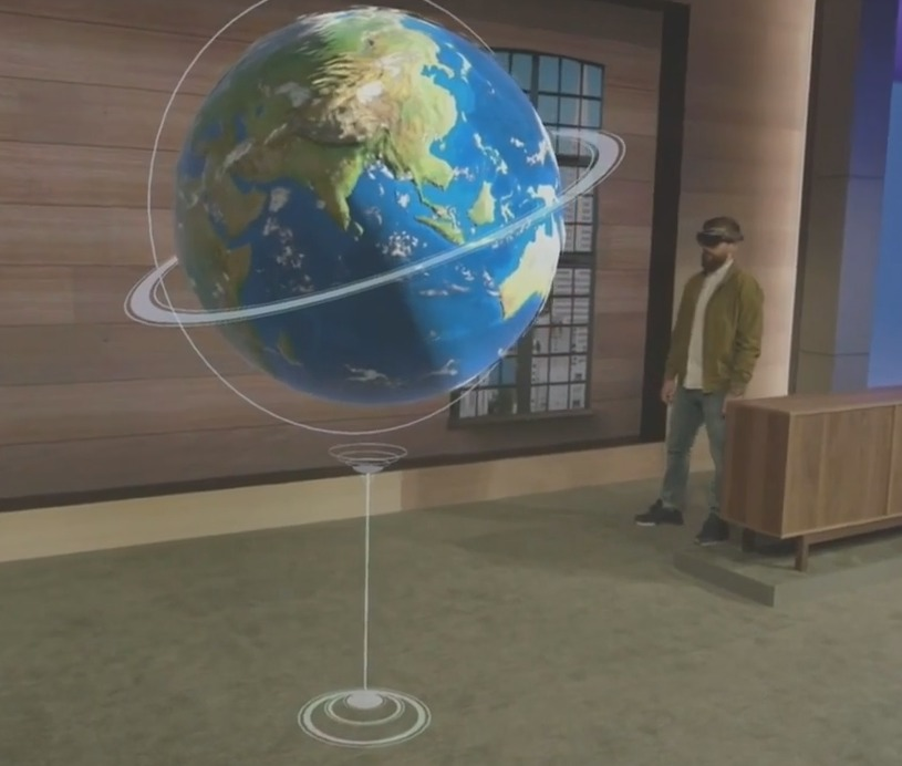 A Live Demo Of Microsoft's Augmented Reality Headset Called