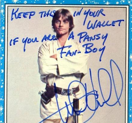 Mark Hamill Gives Hilarious Autographs With a Different Joke On Each One