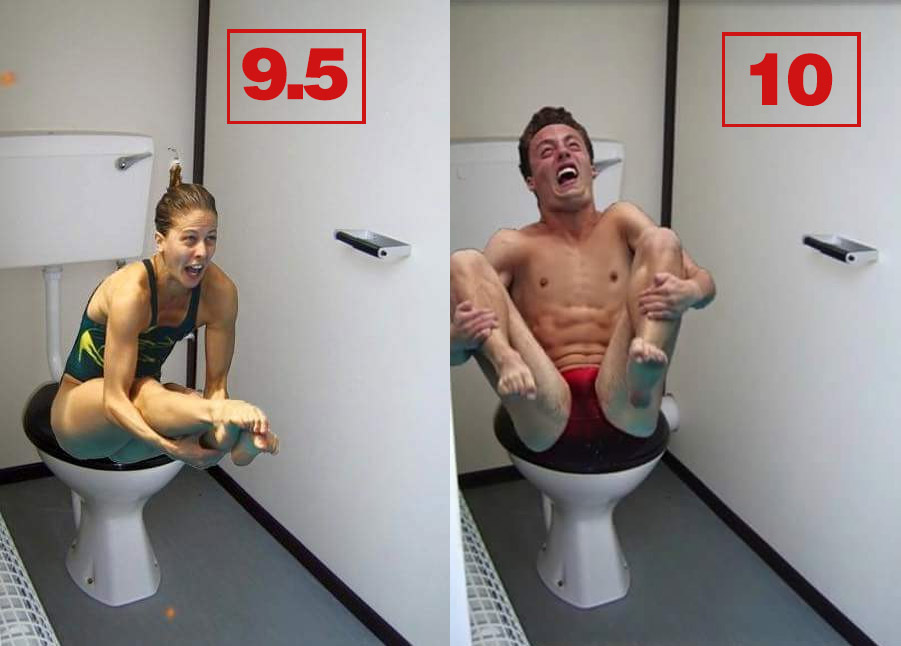 Olympic Divers Photoshopped Onto Toilets Is Just About The Greatest Thing Ever