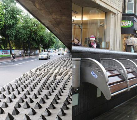 Some Cities Have Started Redesigning Their Streets and Benches To Deter The Homeless