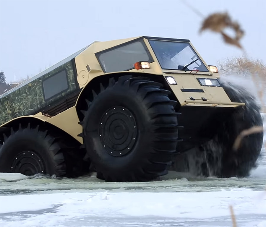 How Much Is A Gallon Of Gas >> The Sherp: A New Russian All-Terrain Vehicle That's Pretty ...