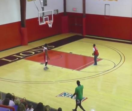 This College Kid Makes 4 Amazing Shots In a Row To Win $10,000
