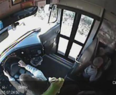 This Crazy Driver Speeds Past A Stopped School Bus And Nearly Kills 3 Kids