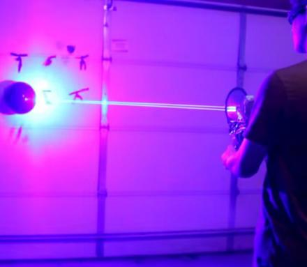 This Guy Creates a Laser Shotgun That Can Pop Balloons and Start Fires