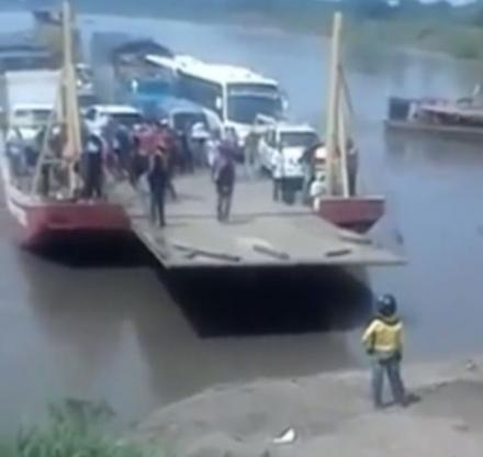 This Impatient Man Walks Off A Docking Ferryboat Too Early and Nearly Gets Cut In Half