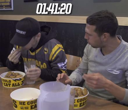 This Is What Happens When The World's Top Competitive Eater Goes Undercover At a Buffalo Wild Wings