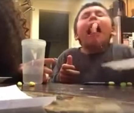 This Kid Tries A New Flavor Of Jelly Bean and Proceeds To Vomit Uncontrollably