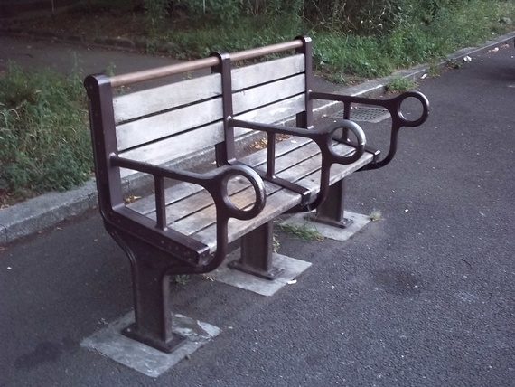 Homeless Deterrent Bench