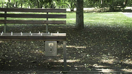 Pay To Sit Bench - Homeless Deterrent Bench