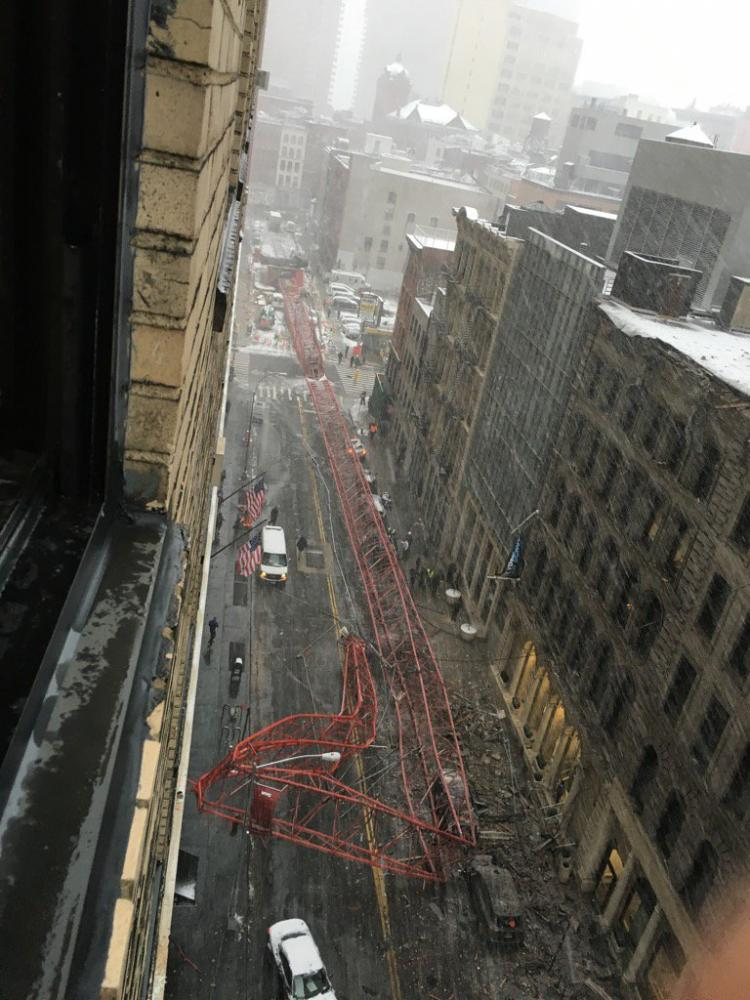 Crane Collapses On New York City Street