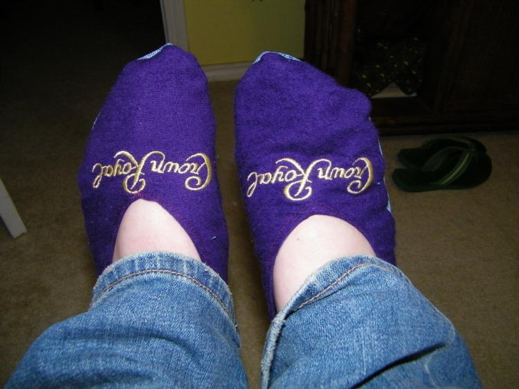 DIY Crown Royal Bag Socks/Slippers