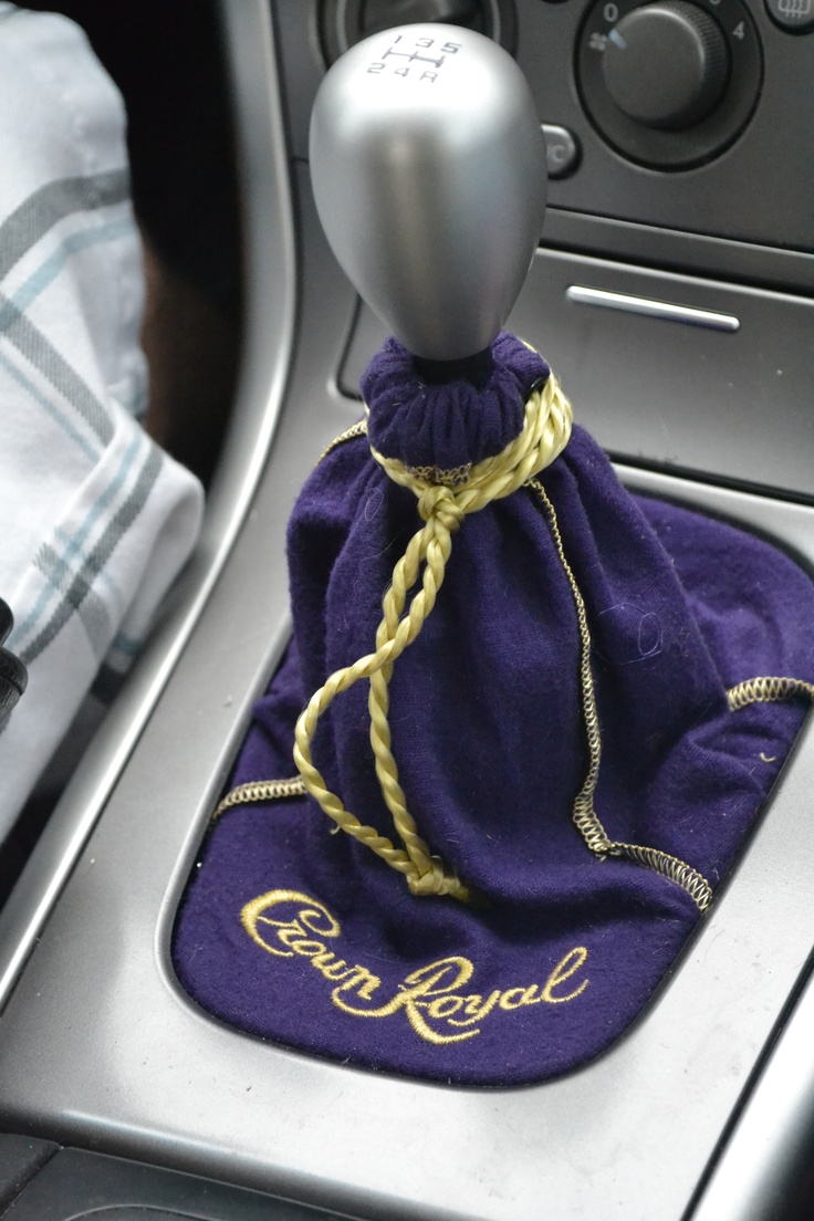 DIY Crown Royal Bag Car Shift Knob