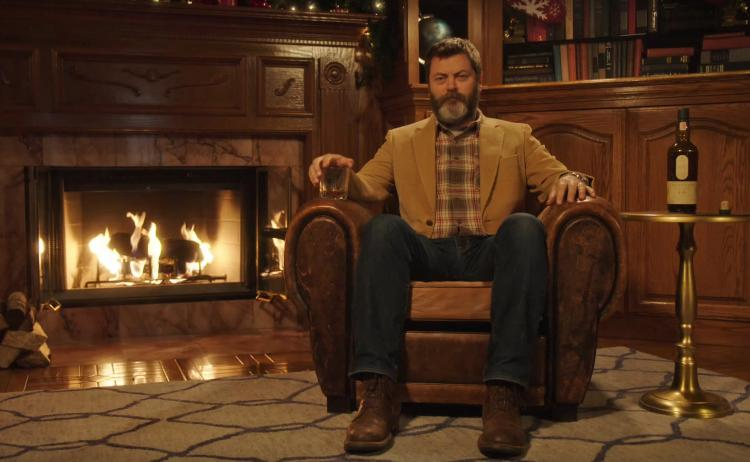 Video of Nick Offerman Sipping Scotch For 45 Minutes Straight