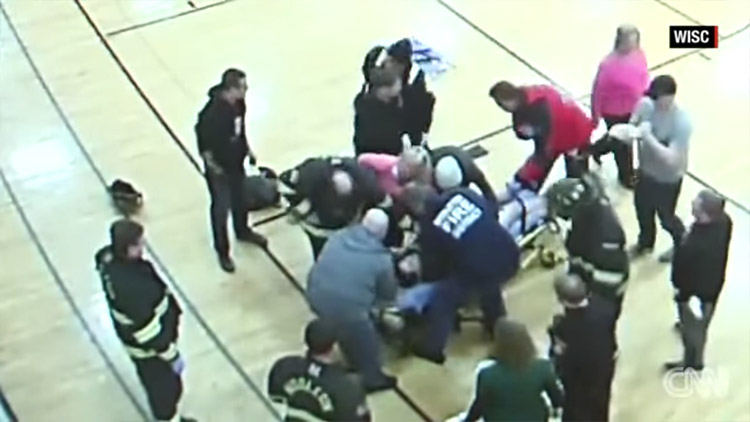 Teen Impaled By Stray Basketball Court Wood Board Sliver