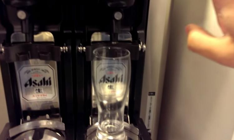 Japanese Beer Serving Robot