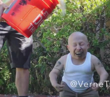 Verne Troyer Does The Ice Bucket Challenge But With A Weird Twist